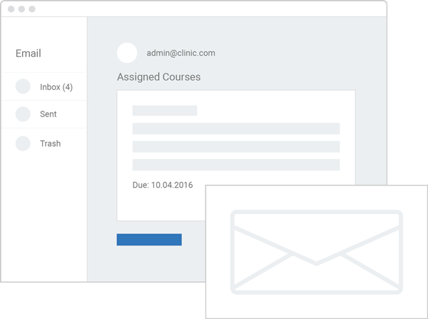 Assign courses interface