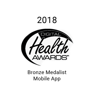 Bronze Medalist for the 2018 Mobile App award from Digital Health Awards