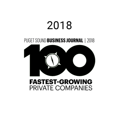 100 Fastest-growing Private Companies in 2018 from Puget Sound Business Journal