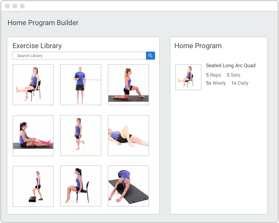 MedBridge Home Exercise Program Builder