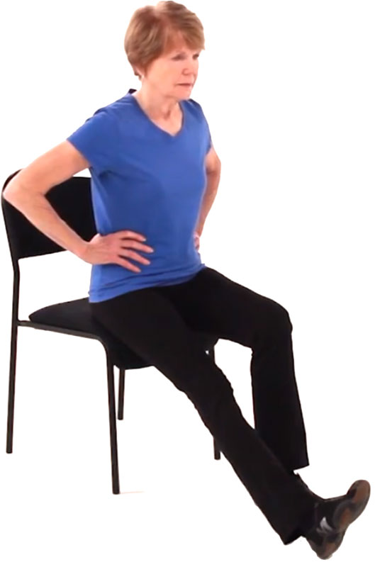 Seated long arc quad exercise